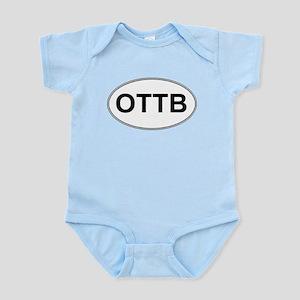 OTTB oval sticker Infant Bodysuit