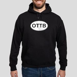 OTTB oval sticker Hoodie (dark)