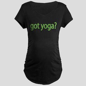 got yoga? Maternity Dark T-Shirt