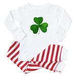 Shamrock Symbol Baby Pajamas