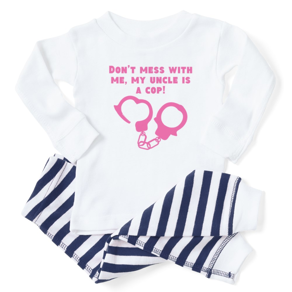 881407776 CafePress My Uncle Is A Cop Baby Toddler Pajama Striped Pants Set ...