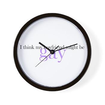 Boyfriend Might be Gay Wall Clock