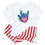 Blue/Pink Glass ILY Hand Baby Pajamas