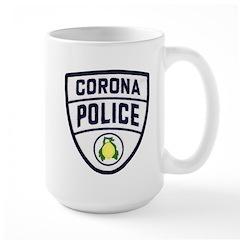Corona Police Large Mug