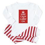 Keep Calm and Carry On Baby Pajamas