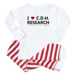 I Love C.D.H. Research Baby Pajamas