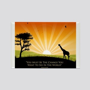 Ghandi Quote Rectangle Magnet