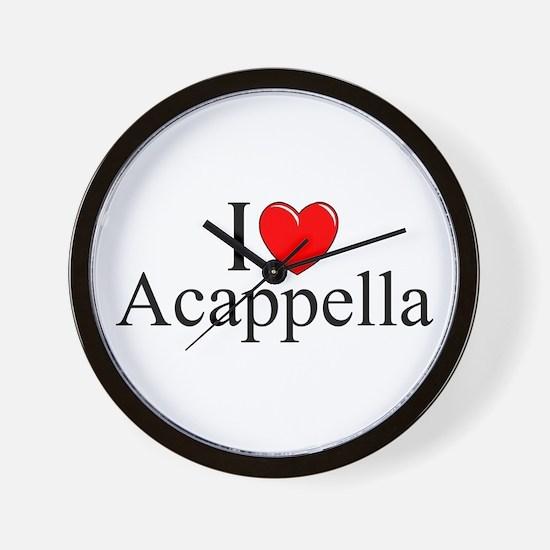 """I Love (Heart) Acapella"" Wall Clock"