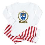 DUPUIS Family Crest Baby Pajamas
