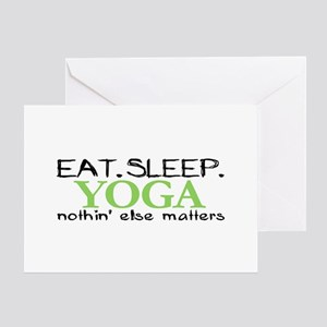 Eat Sleep Yoga Greeting Card