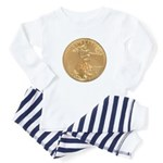 Gold Liberty 1986 Baby Pajamas