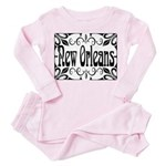 New Orleans Wrought Iron Design Toddler Pink Pajam
