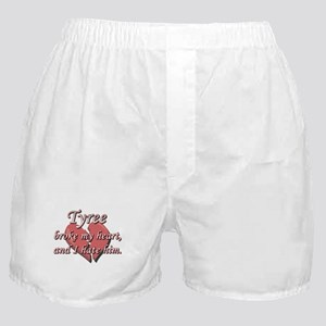 Tyree broke my heart and I hate him Boxer Shorts