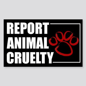 Report Cruelty Sticker