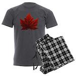 Canada Maple Leaf Souvenir Men's Charcoal Pajamas