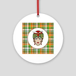 GYPSY WOMAN Round Ornament