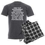 Help cut...Linux - Men's Charcoal Pajamas