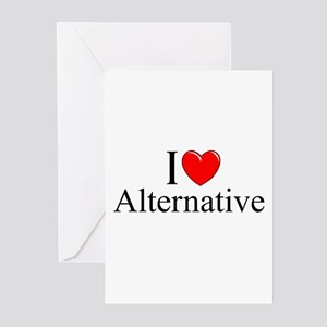 """I Love (Heart) Alternative"" Greeting Cards (Pk of"