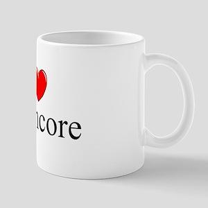 """""""I Love (Heart) Deathcore"""" Mug"""