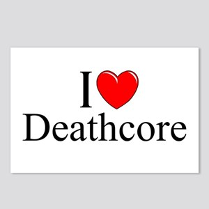 """""""I Love (Heart) Deathcore"""" Postcards (Package of 8"""