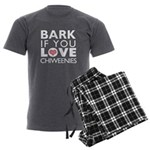 Bark If You Love Chiweenies Men's Charcoal Pajamas