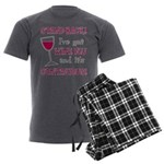Wine Flu Men's Charcoal Pajamas