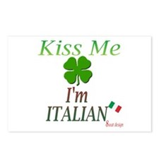 Kiss me, I'm Italian Postcards (Package of 8)