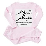 Peace be upon you Arabic Toddler Pink Pajamas