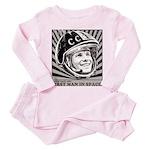 Yuri Gagarin Toddler Pink Pajamas