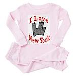 I Love New York Toddler Pink Pajamas