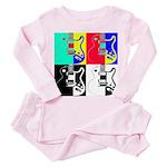 Pop Art Toddler Pink Pajamas
