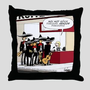 Senor Discount Throw Pillow