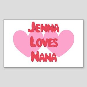 Dad Loves Jenna Rectangle Sticker