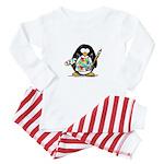 Artist penguin Baby Pajamas