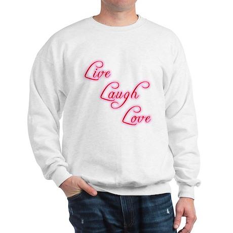 Live Laugh Love Men's Sweatshirt