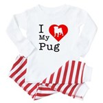 I Love My Pug Baby Pajamas