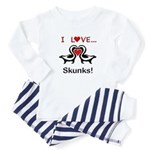 I Love Skunks Baby Pajamas