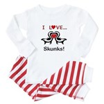 I Love Skunks Baby Pajamas