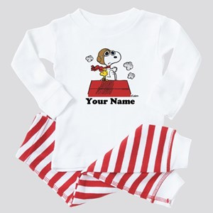 Peanuts Flying Ace Personalized Baby Pajamas
