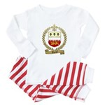 THERIOT Family Crest Baby Pajamas