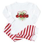 LOVE With Heart Baby Pajamas