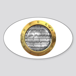 Music Porthole Oval Sticker (10 pk)