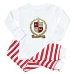 DOUCET Family Crest Baby Pajamas