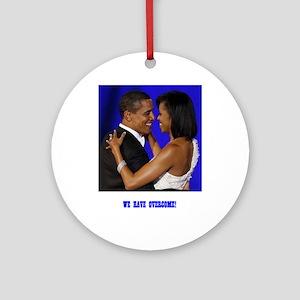 President Obama/Michelle Ornament (Round)