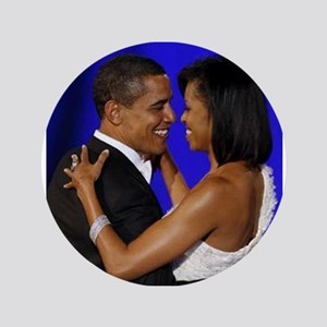 "President Obama/Michelle 3.5"" Button"