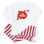 Fish Wrangler - Hate Fish Logo Baby Baby Pajamas