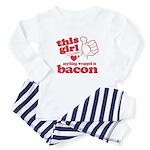 Girl Hearts Bacon Baby Pajamas