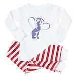 Greyhound Hearts Baby Pajamas