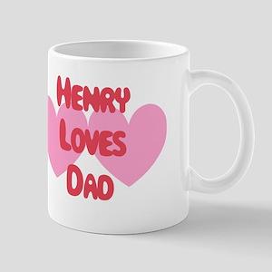 Henry Loves Dad Mug