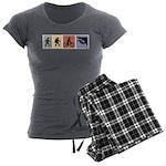 Multi Sport Gal Women's Charcoal Pajamas